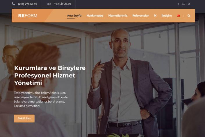 Reform Hizmet Yönetimi Web Sitesi